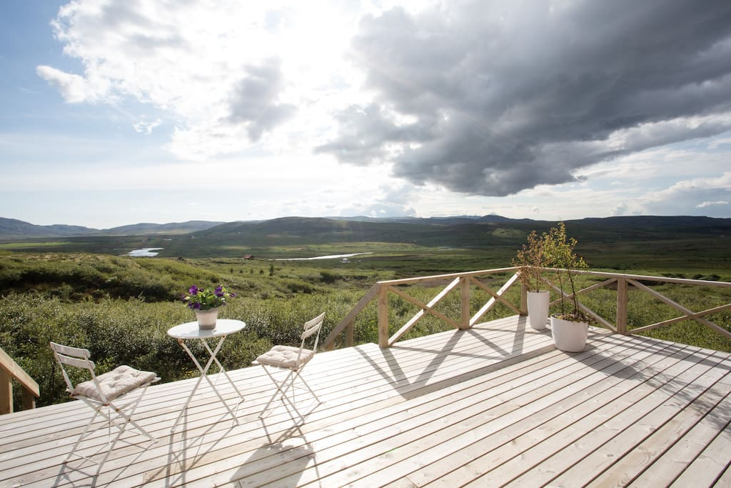 View to the west, over the river Sogið. We have enjoyed some very peaceful moments exactly here.