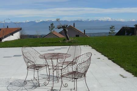 Vue spectaculaire sur Lac et Alpes - Arzier-Le Muids