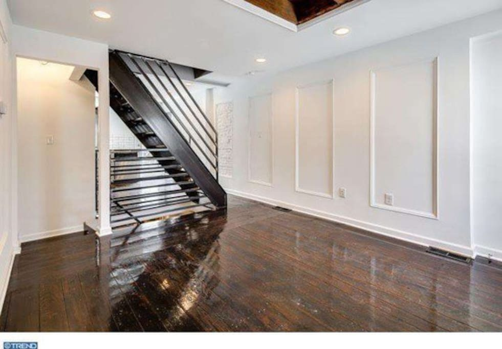 Beautiful first floor with original hardwood