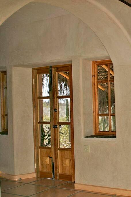 Front door from living area