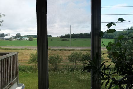 Beautiful view to open fields
