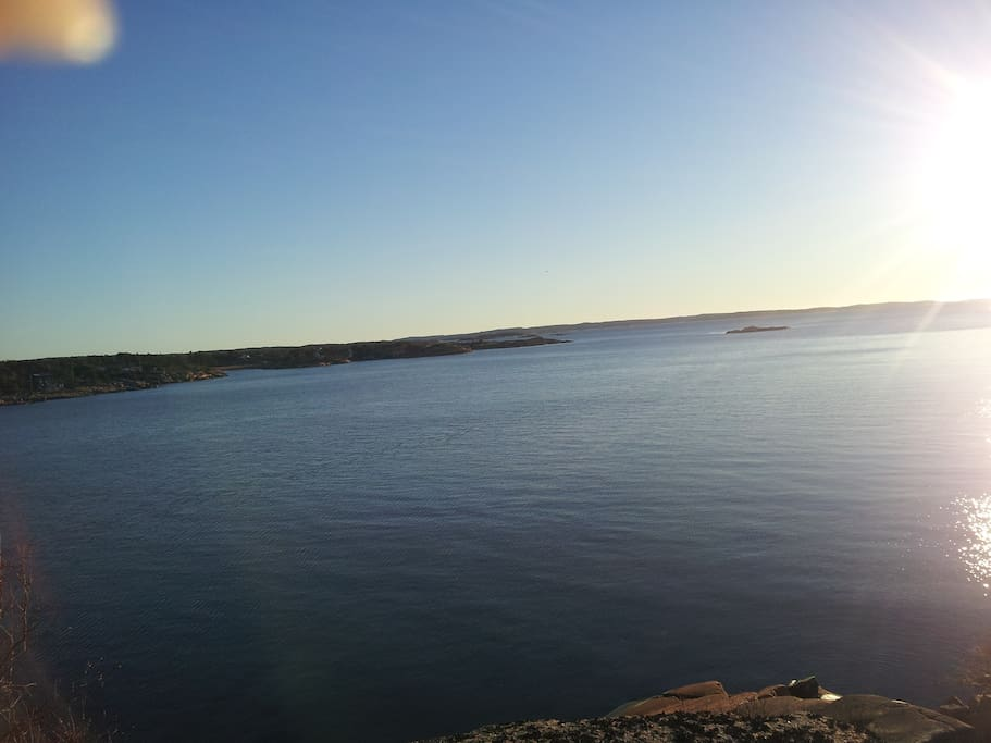 Utsikten fra Vikerkilen