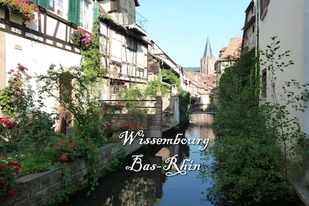 Ground floor flat, center of a small city, 8000hab - Wissembourg