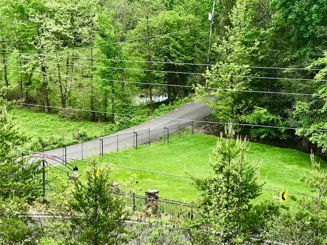 View of paved entrance to home