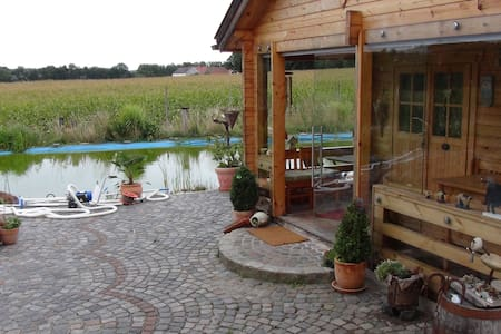 Kleines Blockhaus mit Charme   - Osternach - Huis