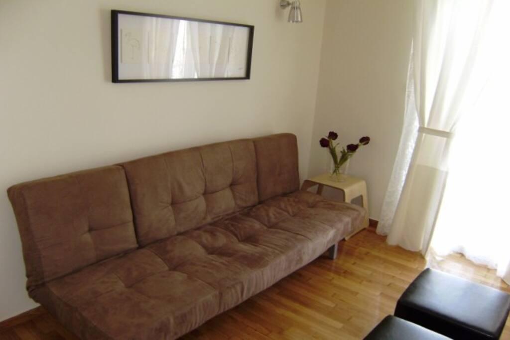 Living room, convertible sofa-bed