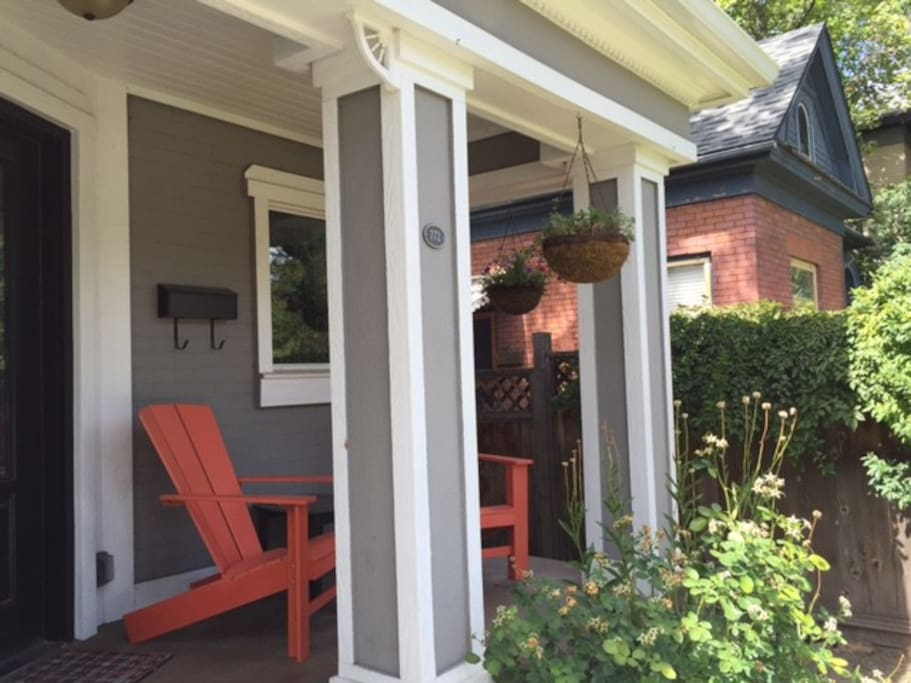 Enjoy coffee on the front porch if you desire