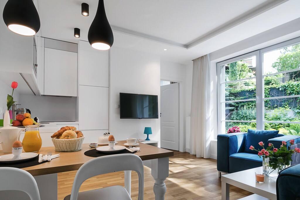 Apartament Delux- salon z aneksem kuchennym i funkcją spania dwuosobowego
