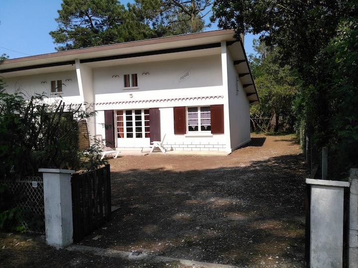 Villa 6p   Terrain 450m2 clôturé Biscarrosse plage