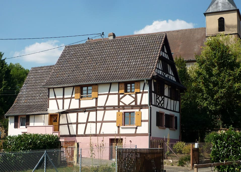 Maison alsacienne typique 6 pers maisons louer for Maison typique du nord de la france