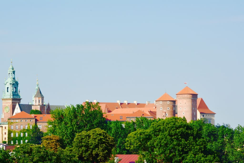 view from the balcony of the Royal Palace Wawel