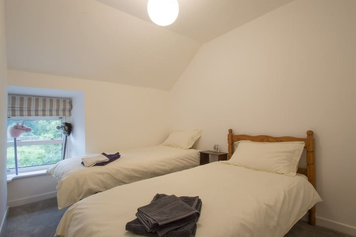 A decent sized twin bedroom on the second floor