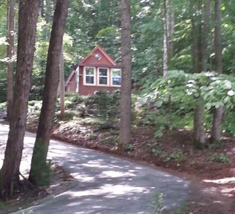 The cabin is across the parking area from our home.  We are available if you need us but respect your privacy.