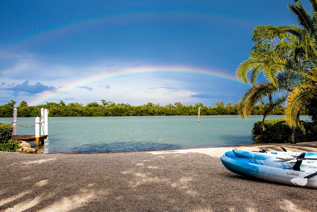 Rainbow over Buck's Key Nature Preserve