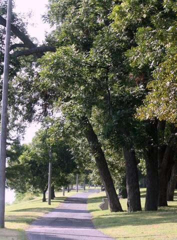 Walk or bike along the river trail.