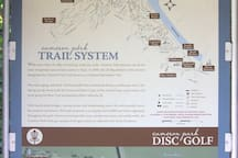 Map of trails & disc golf.