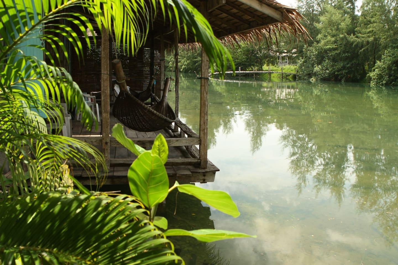 Stilt Bungalows on Lagoon-Klongprao - Chalets te Huur in Ko Chang ...