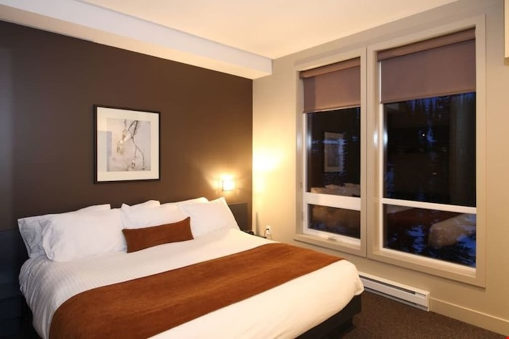 Relax and unwind in one of the comfortable beds.