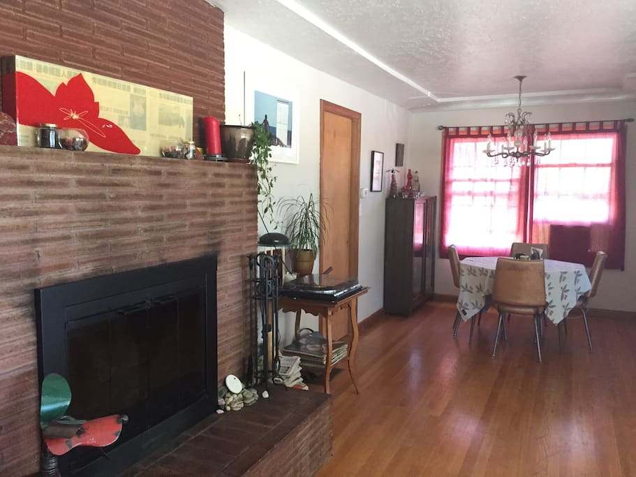 Fireplace & Dining Room