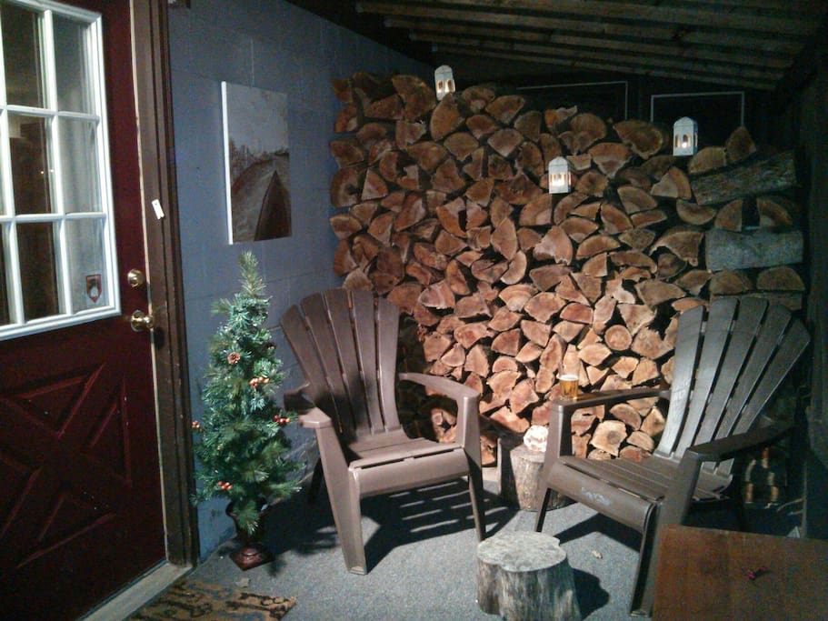 Wood stove makes winters a little warmer!