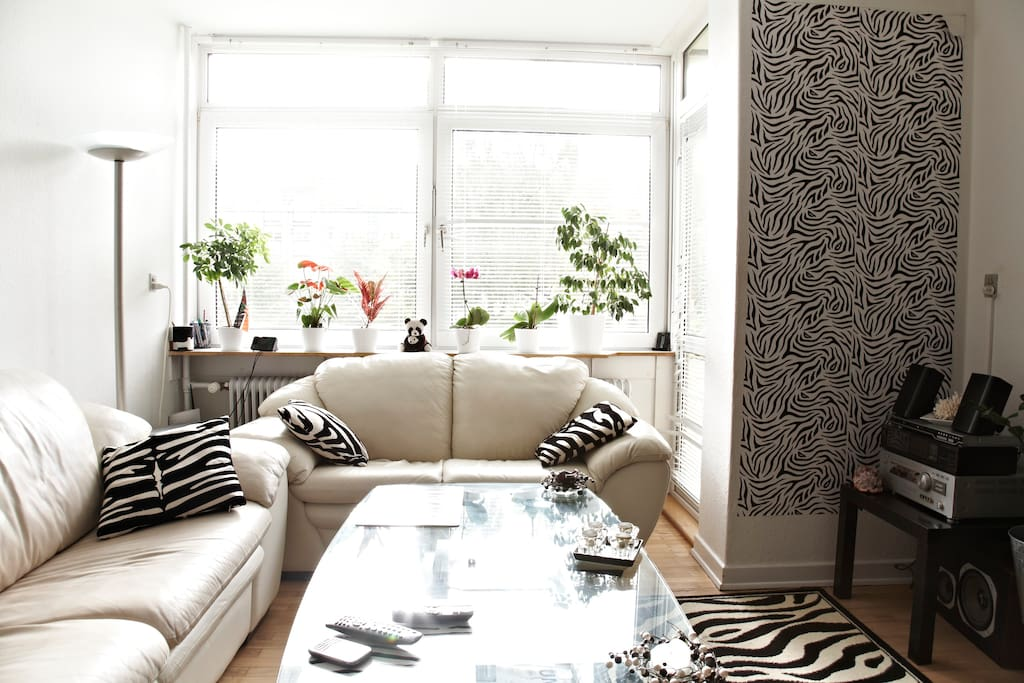Living room with the Zebra theme