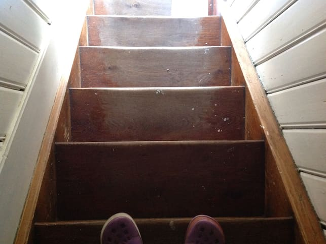 Eine Treppe rauf...
