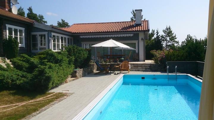 Villa Herrvik swimmingpool, Stockholm archipelago