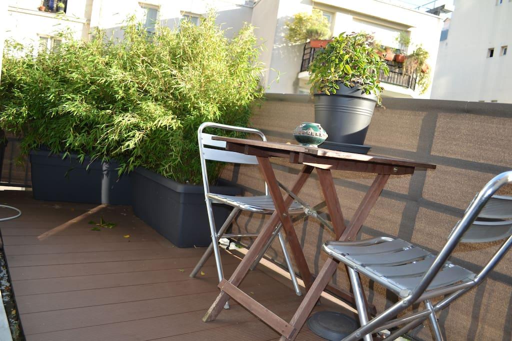 Grand balcon idéal pour l'apéro !