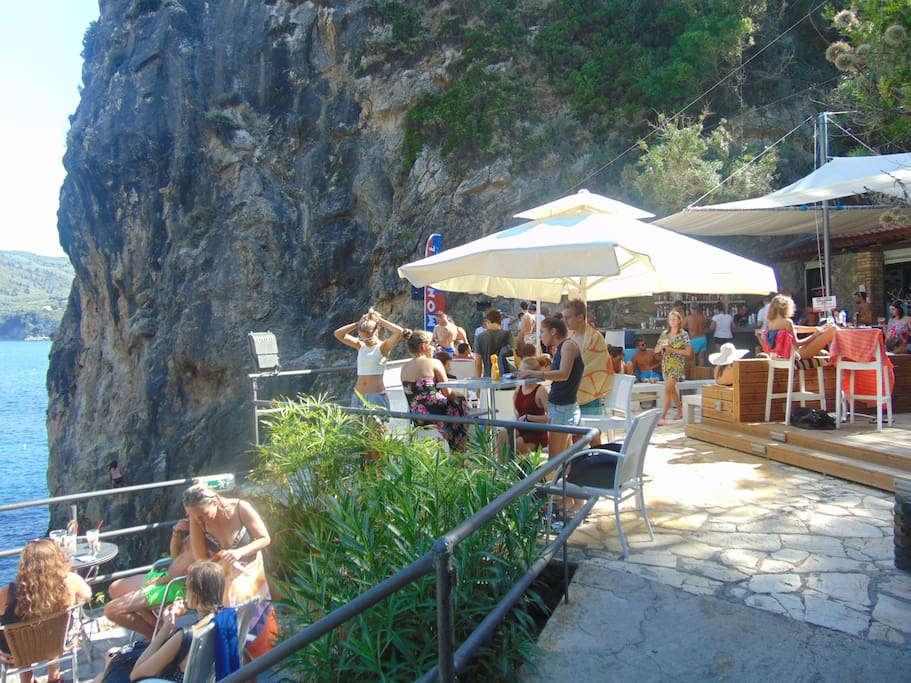 pool bar in paleokastritsa , it belongs to another  property, guests have free acces