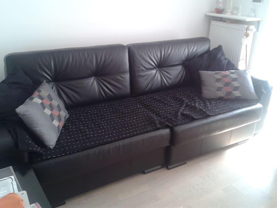a sofa you'll be sleeping on