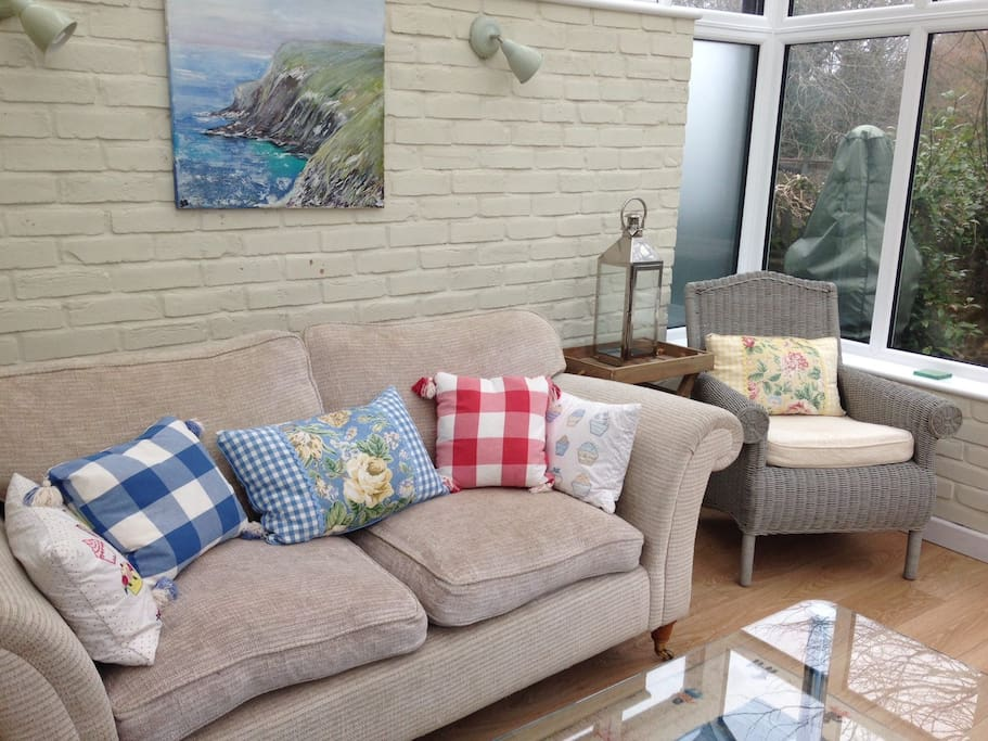 This is the lounge in the lovely conservatory