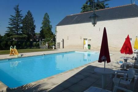 2-bedroom Loire Valley flat w/pool - Chisseaux - Appartamento