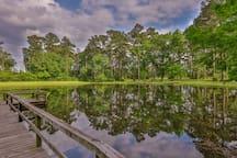 Stocked bass pond.