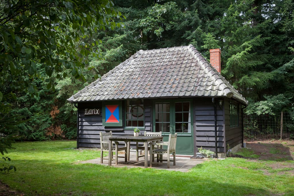 The looks of an old cabin but with all the luxuries of a modern house including central heating
