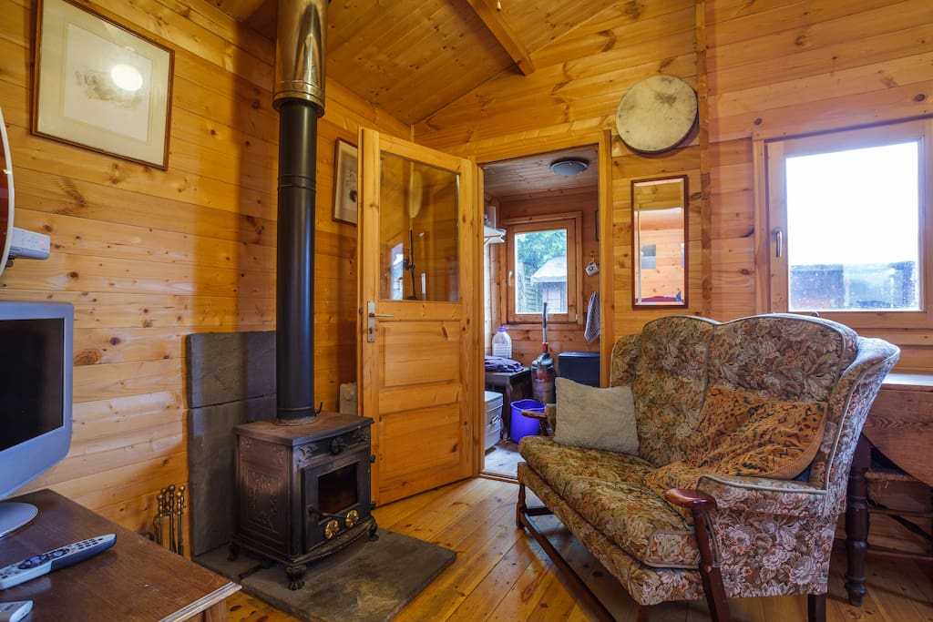 Lounge and log burner