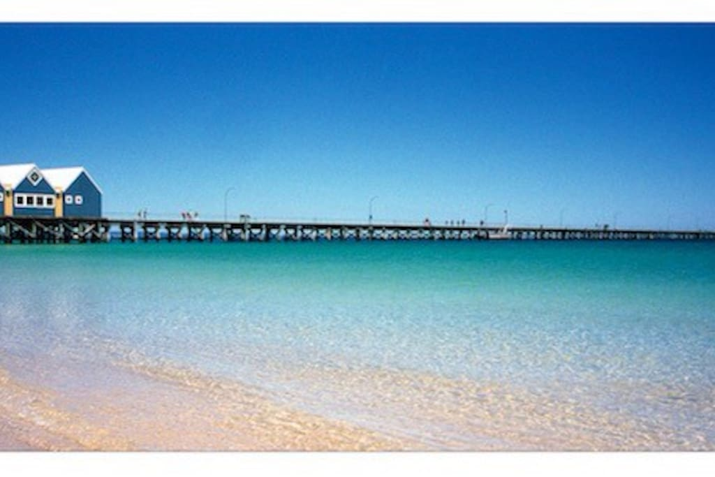 The lovely beaches of Busselton from the restaurant at the foreshore