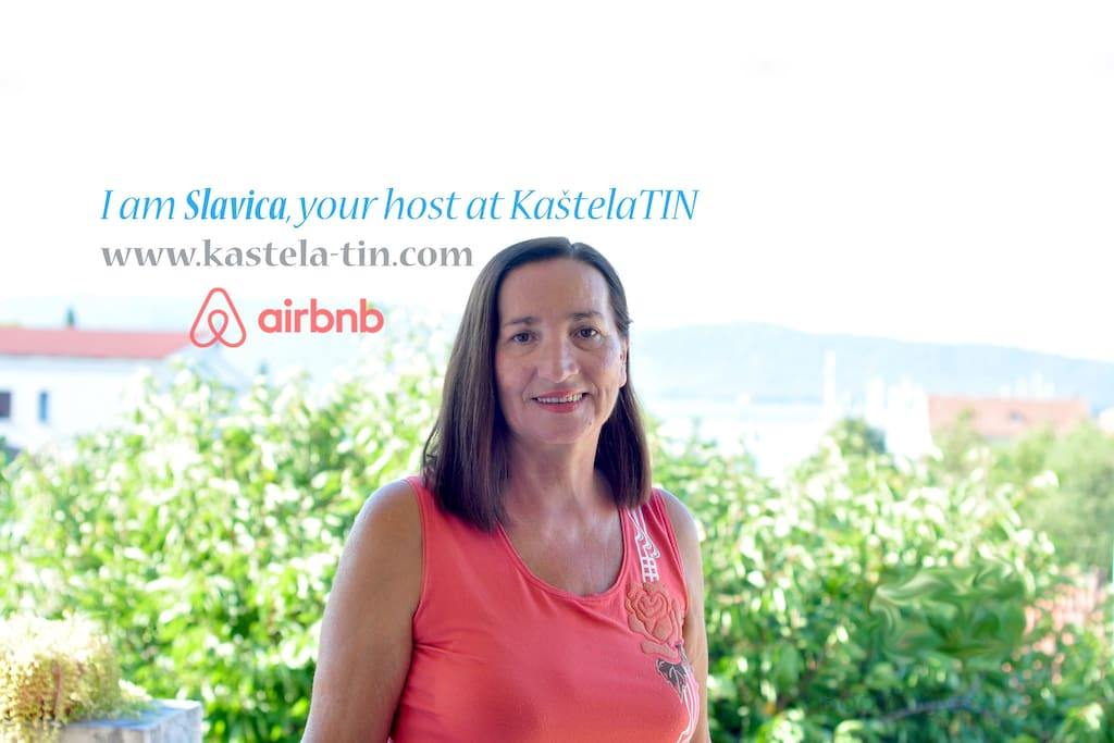 I am Slavica Parcina and I am your host at KastelaTIN Guest House.