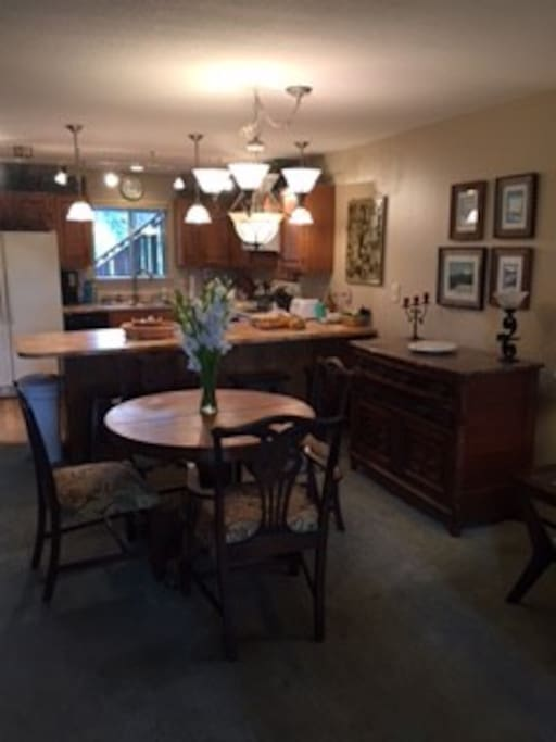 dining area - there are more dining chairs scattered around the house