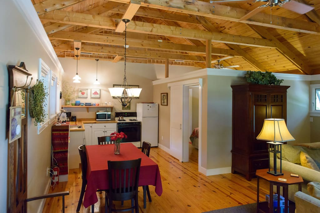 dining area , kitchen and living space. Open floor plan