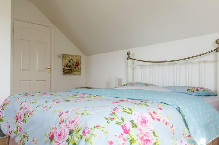 Bedroom 1 has lovely sea views