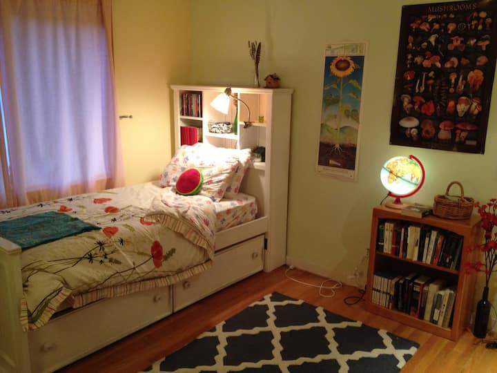 Cozy room with elegant touches