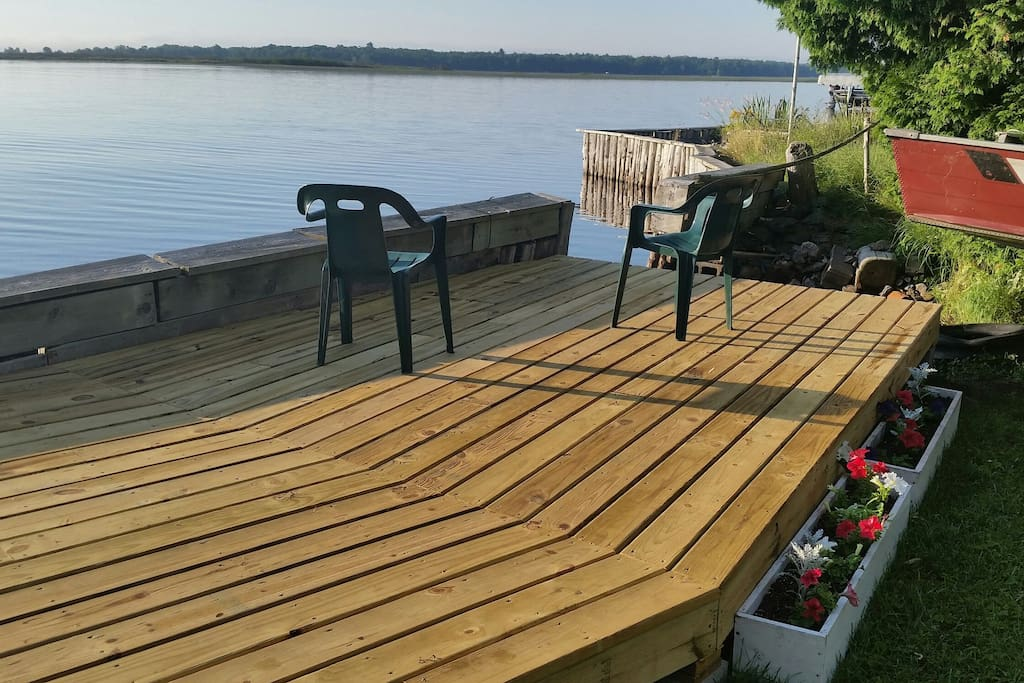 The deck is also a great place to enjoy your morning coffee!