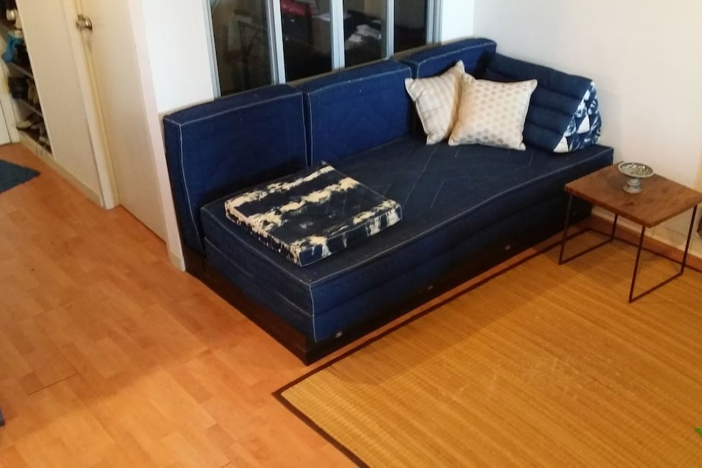 Sofa convertible to double bed.