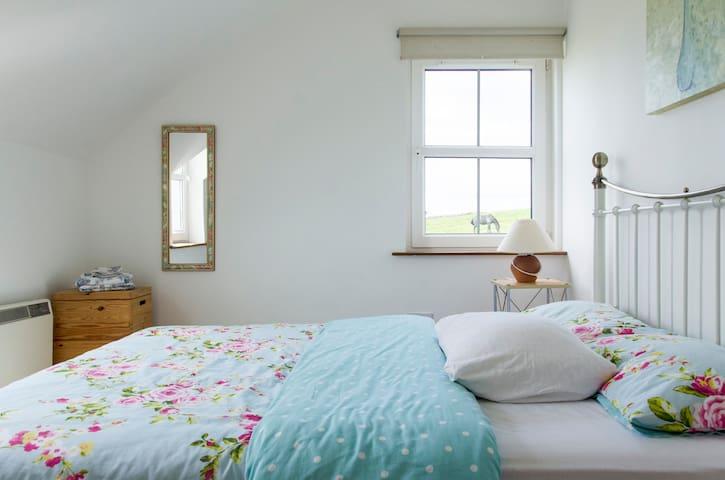 Bedroom 2 has lovely sea views