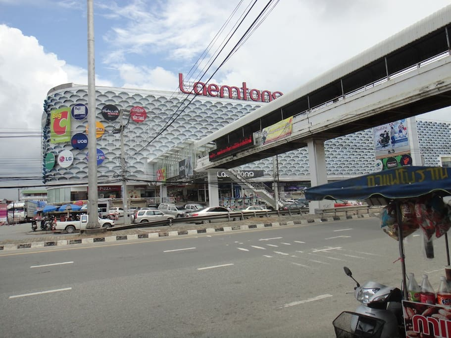 500 meters from Laemthong Shopping Mall