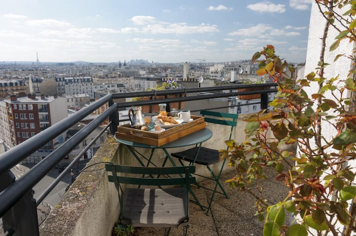 Apt with panoramic view of Paris - Paris - Apartamento