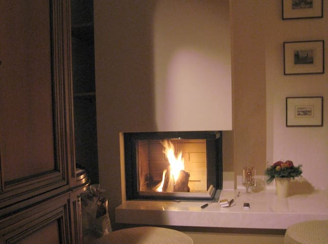 Fire place. Fully functional giving a special atmosphere.