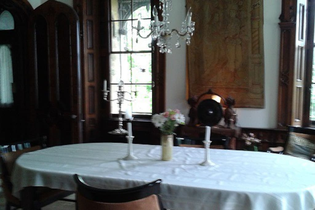 Dining room with table that sits 10.