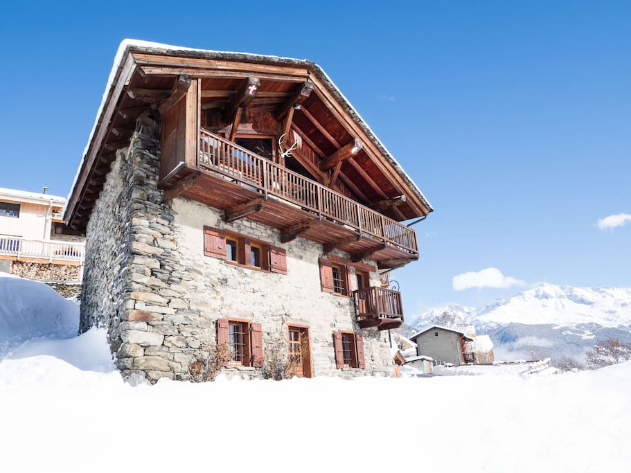Our eco-chalet in winter.