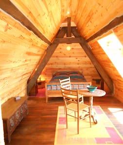 Chambre éco rénovée dans un manoir - Jiné